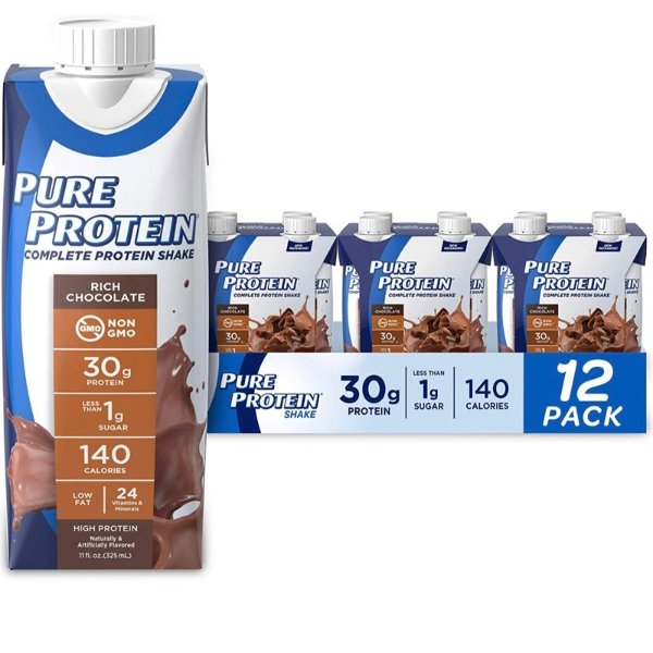 高蛋白巧克力口味营养奶昔 11oz 12瓶