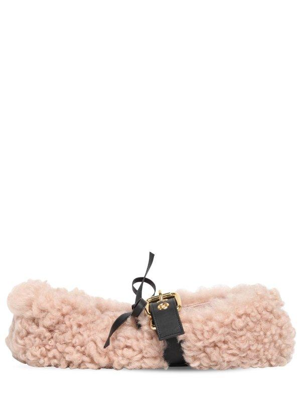 羊羔毛芭蕾鞋