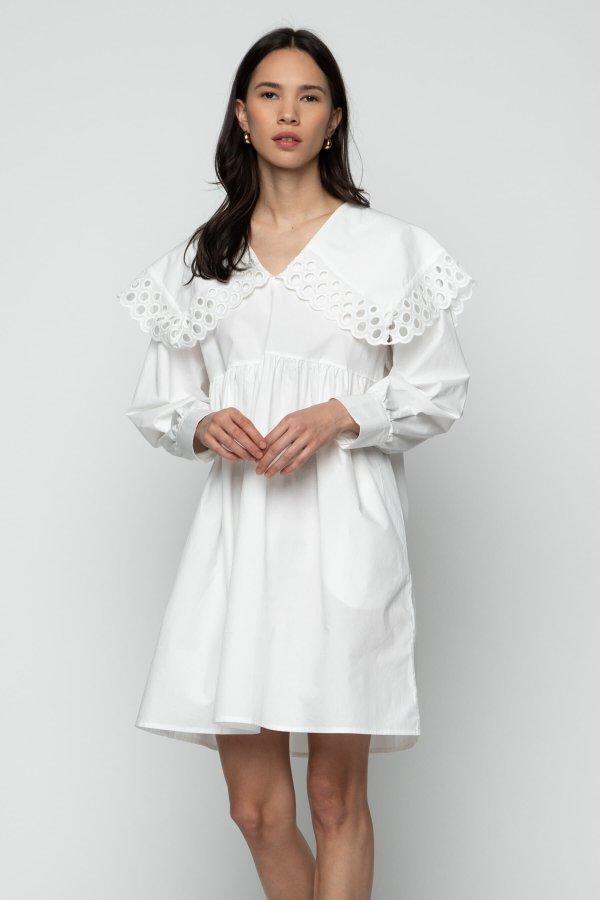 泡泡袖连衣裙 6483