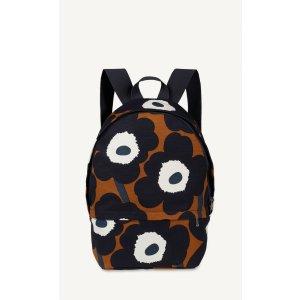 Enni Pieni Unikko backpack - brown, navy, off white - Bags - SALE - Marimekko.com