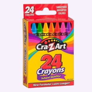 Cra-Z-Art School Quality Crayons, Smoother and Brighter - 24 Count