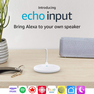 $19.99(原价$44.99)Amazon Echo Input 普通音箱秒变智能音箱  Prime会员专享