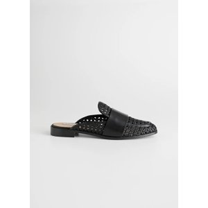 & Other StoriesPointed Woven Leather Slip Ons