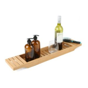 Mindreader Mind Reader Bamboo Bathtub Tray Caddy, Brown