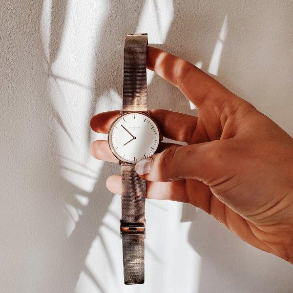 Native 玫瑰金表带男士手表