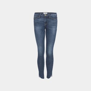 FrameLe High Tulip Raw Hem Skinny Jean in in York