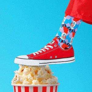 低至6折Happy Socks 古灵精怪袜子大促区 匡威、马丁靴、老爹鞋的完美搭档