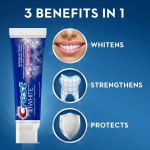 $2.25(原价$4.39)Crest 佳洁士3D美白牙膏 有效清除牙渍 强化牙釉质预防蛀牙
