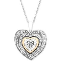 Macy's 心形钻石项链