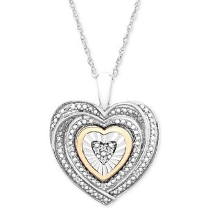 Macy's心形钻石项链