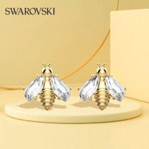 Swarovski8折小蜜蜂耳钉