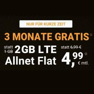 免费3个月!月租€4.99+免€19.99接通费