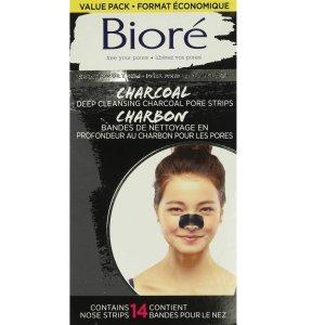 $10.44(原价$12.47)Bioré 碧柔 深层清洁 竹炭黑头鼻贴 14张装 吸附毛孔杂质