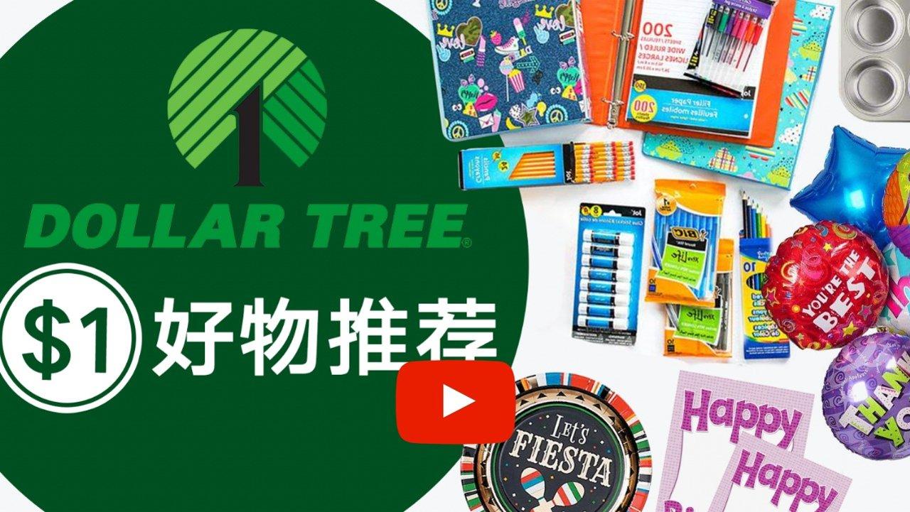 $1美金能买什么?美国1元店Dollar Tree 10样实用好物推荐!