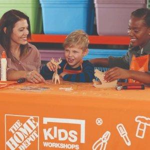 制作 驯鹿雪橇预告:12月 Home Depot 免费的儿童手工活动