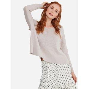 State CashmereBuy 1 get 1 free100% Cotton Hooded Sheer Crop Sweater
