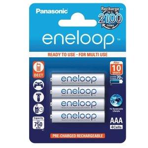 仅售€8.73 爱护环境请用充电电池Panasonic eneloop 镍氢AAA充电电池 4个装 750毫安时
