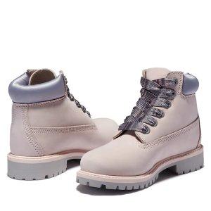 Timberland大童款粉色靴子