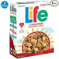 QUAKER Life 混合口味早餐谷物 13盎司 3盒