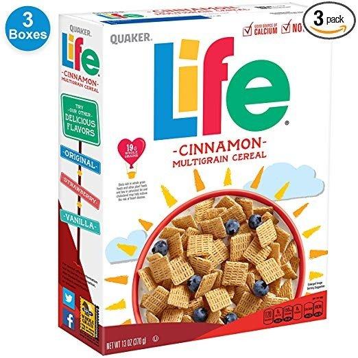 Life 混合口味早餐谷物 13盎司 3盒