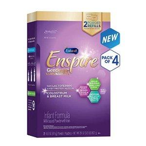 $204.24Enfamil Enspire Gentlease 防胀气婴儿配方奶粉,29盎司*4