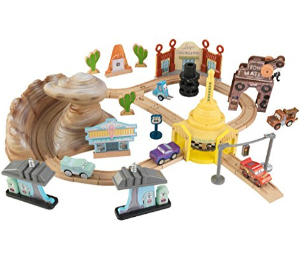 $36 KIDKRAFT Disney Pixar Cars 3 Radiator Springs 50 Piece Wooden Track Set with Accessories