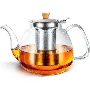 HIHUOS 玻璃滤茶壶,带茶滤 950ML