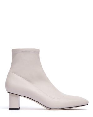 DERRICK - SQUARE TOE BLOCK HEEL BOOTIES | BOOTS | All Shoes | Pedder Red