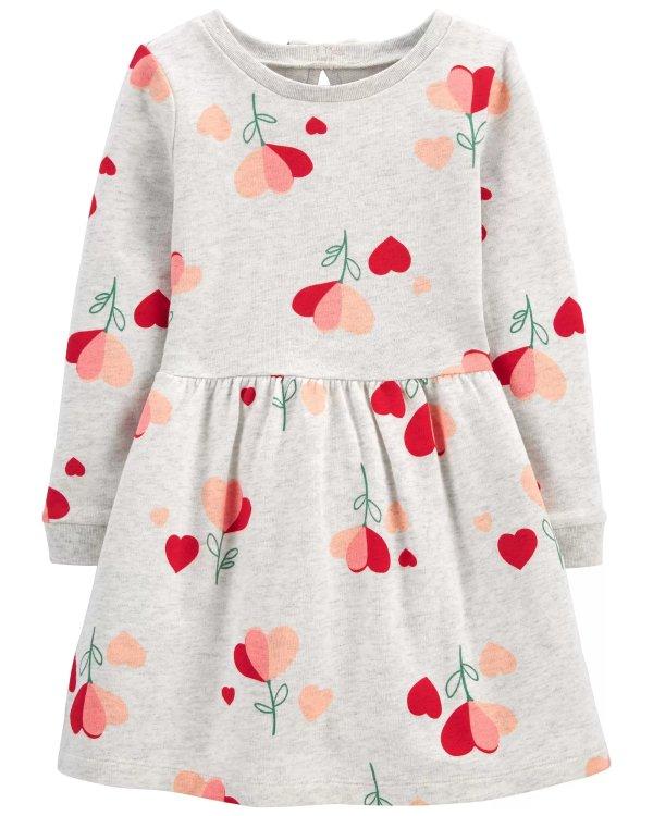 小童爱心花朵连衣裙
