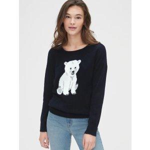 Gap小熊毛衣