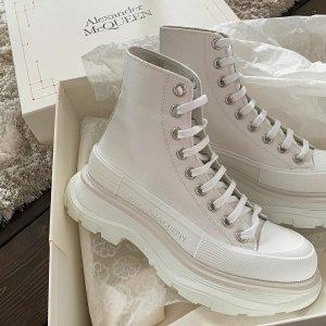 6折起 款式超齐全Alexander McQueen 收封面同款马丁靴、小白鞋$400+