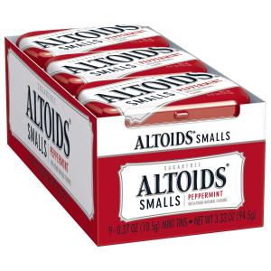 现价$6.38 一盒$0.79Altoids 无糖薄荷糖 随身包 0.37盎司 9盒