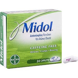 $5.98Midol, Caffeine Free, Menstrual Period Symptoms Relief Including Premenstrual Cramps, Pain, Headache, and Bloating, For Teens and Adults, Caplets, 24 Count