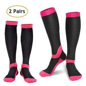 $5.99 1双只要$2.99REFUN 压缩运动袜、瘦腿袜 2双