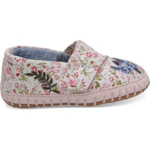 TomsMulti Pink Floral Embroidered Tiny TOMS Crib Alpargatas