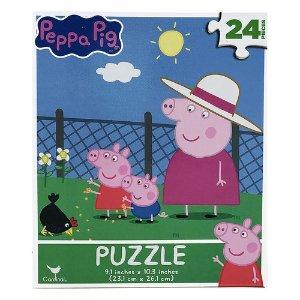 Peppa Pig单品标价为加币价格拼图 24片