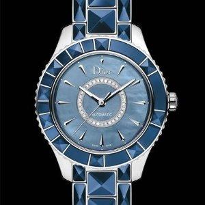 额外$600 $1895 (原价$7250)迪奥镶钻蓝宝石水晶机械奢华女表特卖