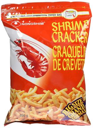 $4.27(原价$6.29) 凑单就买它Nongshim 农心虾条大包装400g 吃到停不下来