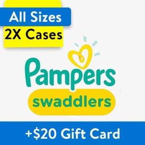 $99.98两箱 赠$20礼卡Pampers 多系列婴儿纸尿裤,超大箱经济装