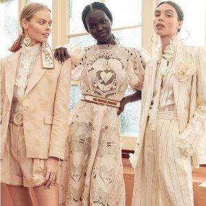 低至2折! 泰勒爱牌Zimmermann 仙裙大促 丝绸连衣裙$218、上衣$119