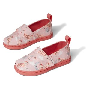 Tomskids tiny pink over the moon alpargata slip on shoe