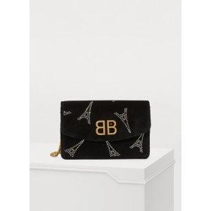 BalenciagaBB logo链条包
