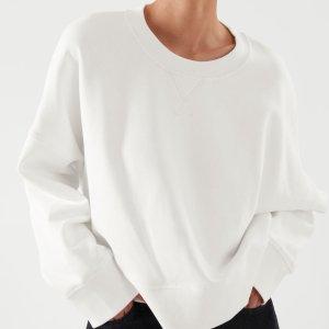 COS短款卫衣 白色