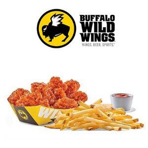 免费任吃炸薯条仅今天:Buffalo Wild Wings 门店购买任何一个订单炸鸡优惠
