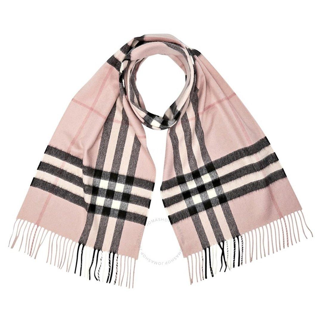 樱花粉围巾