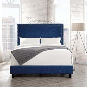 HouzzPicket House Furnishings Emery Upholstered Platform Bed - Transitional - Platform Beds - by Picket House