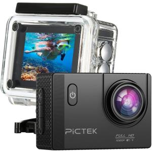 $39.99(原价$79.98)PICTEK 1080P 170度广角 高清防水运动相机