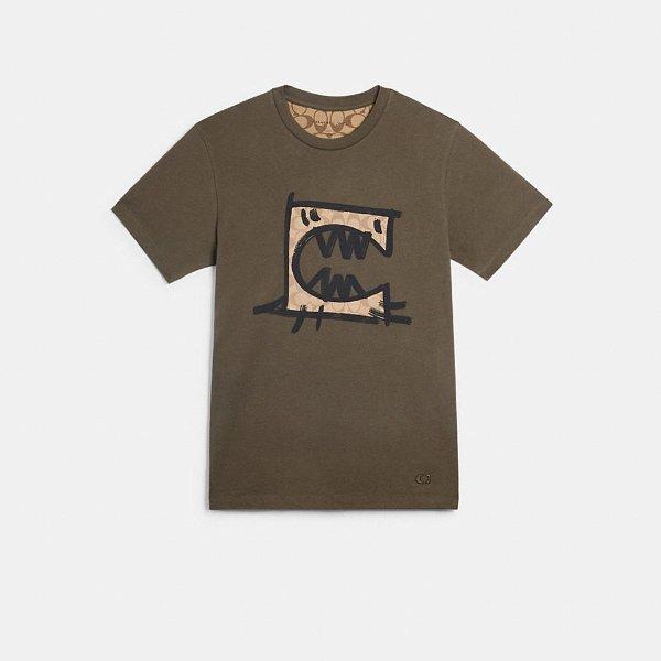Guang Yu 合作恐龙T恤