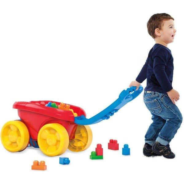 儿童拖动积木清理车