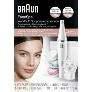 $49.99Braun Face 851 Women's Miniature Epilator, Electric Hair Removal, with 4 Facial Cleansing Brushes and Beauty Pouch